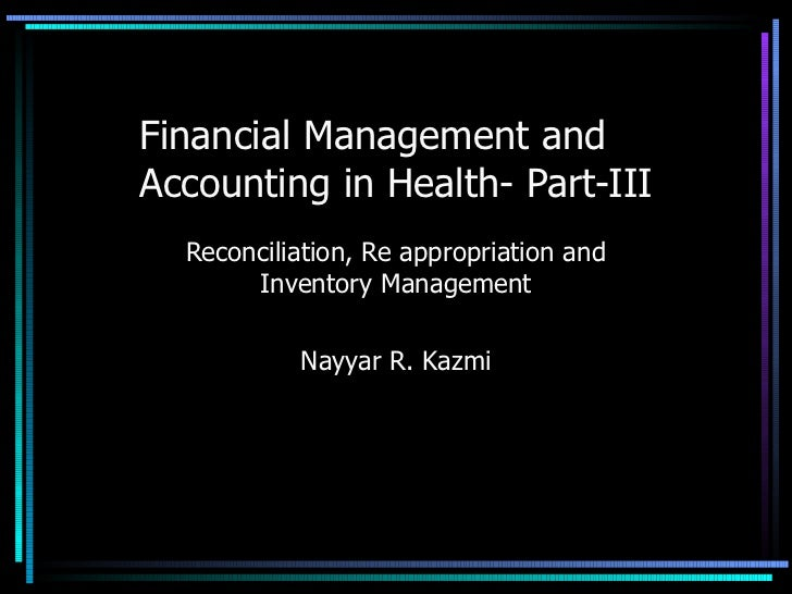 Financial management and accounting  part-iii
