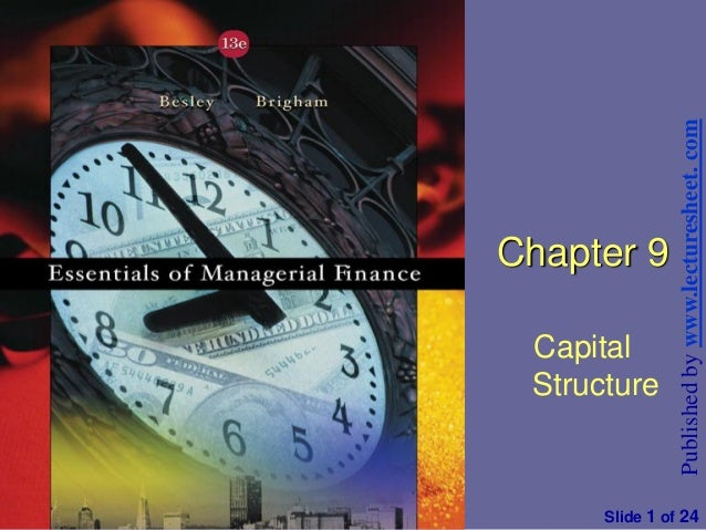 Financial management and policy chapter 9