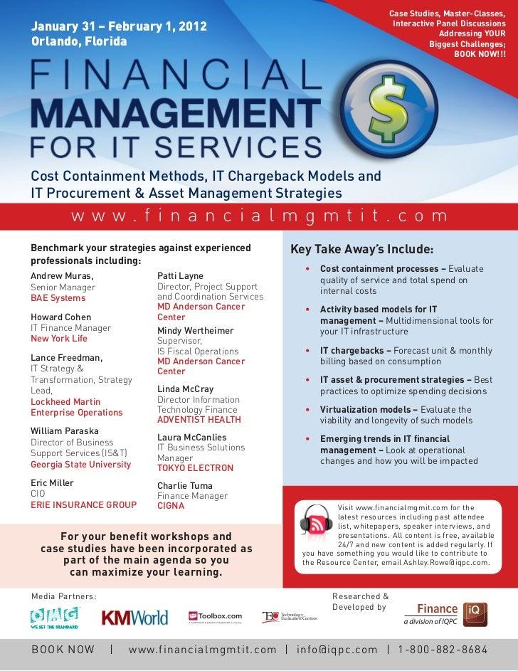 financial management business case study assets