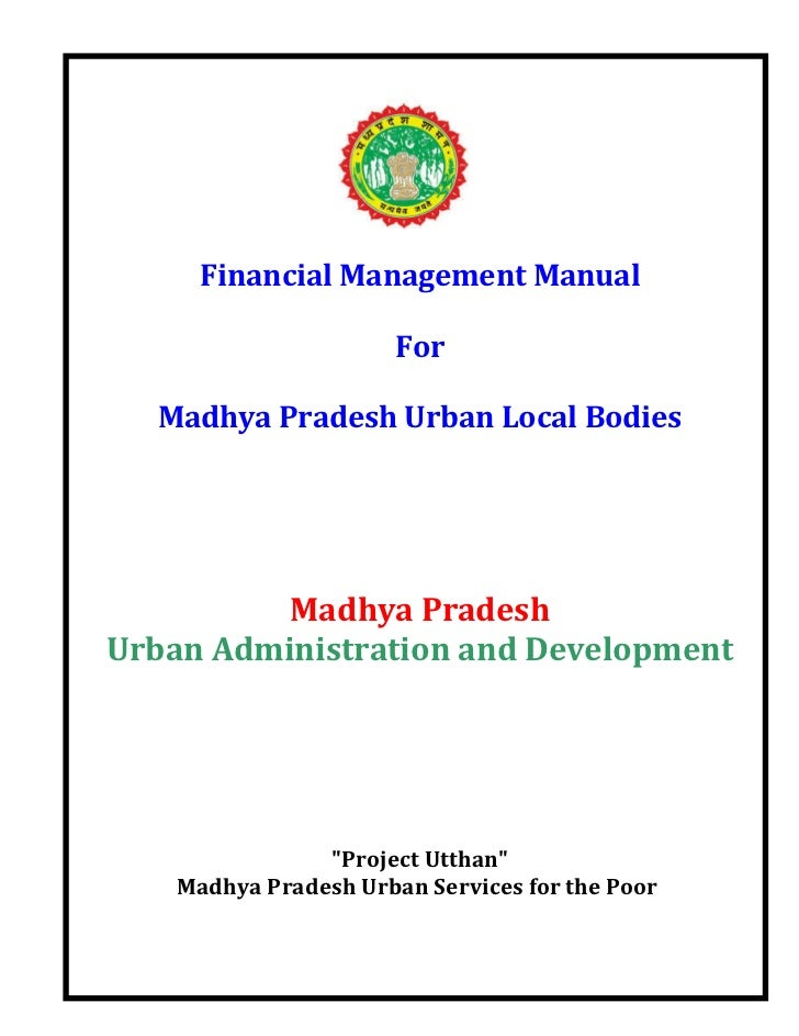 Financial Management Manual for ULBs of M.P.- English