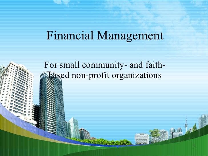 Financial Management in Nonprofit Organizations