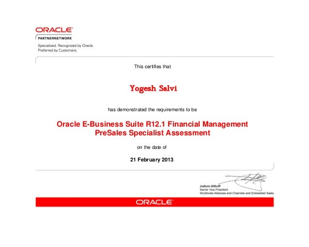 e Business Suite Oracle Financials Oracle e Business Suite R12