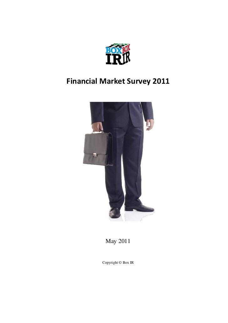Financial market survey 2011 summary