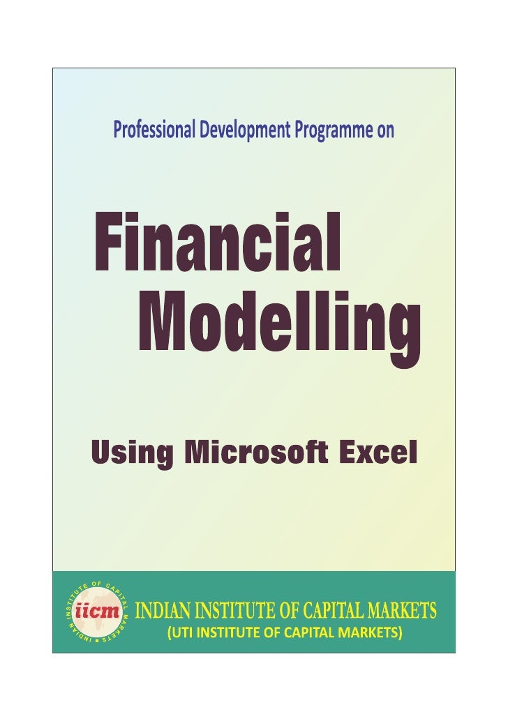 Professional programme on Financial modelling using Microsoft Excel