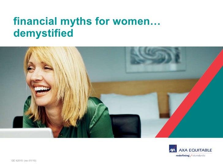 financial myths for women…  demystified