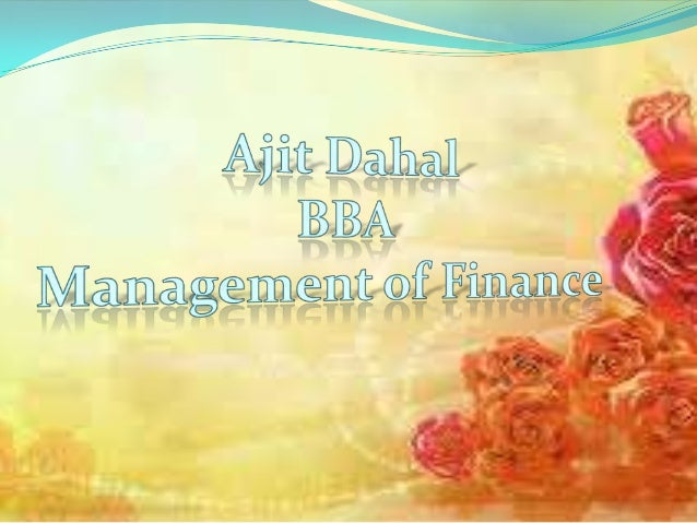Financial Needs & Sources of Finance of a Business1. Long-term financial needs: For starting business, business needs fund...