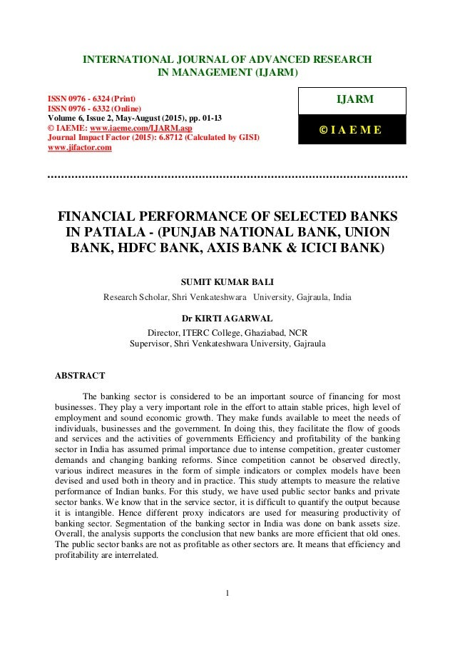 performance management practices in axis bank Effects of strategic management practices on performance of financial institutions in kenya: a case of kenya post office savings bank.