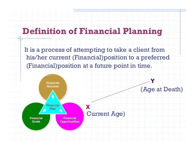 a description of the financial planning Financial planning is an ongoing process to help you make sensible decisions about money that can help you achieve your goals in life it's not just about buying products like a pension or.