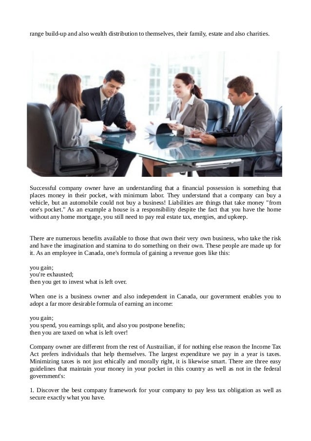 Financial planning for business owners