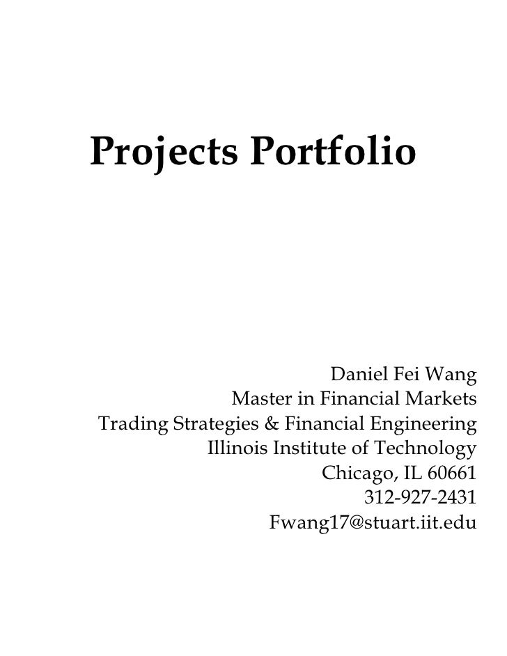 Financial Project Portfolio