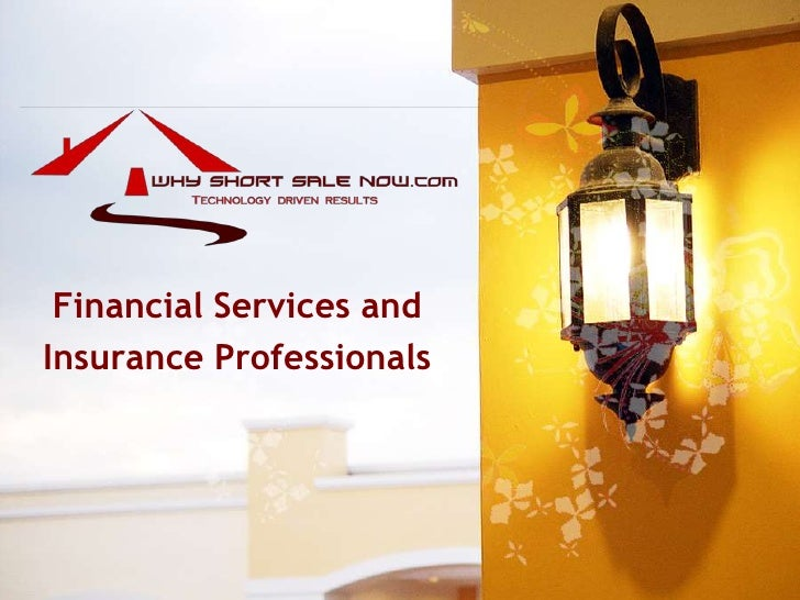Financial professionals and Short Sales