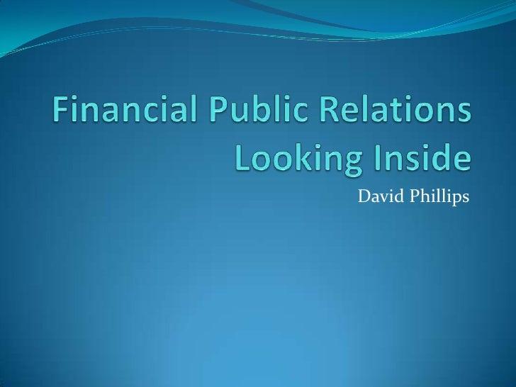 Financial  Public  Relations Case Study