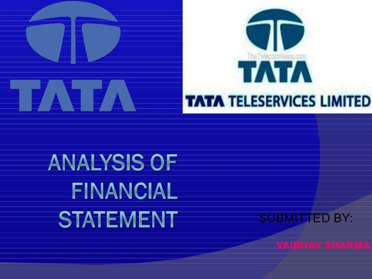 Financial ratios ppt for Tata motors financial statements