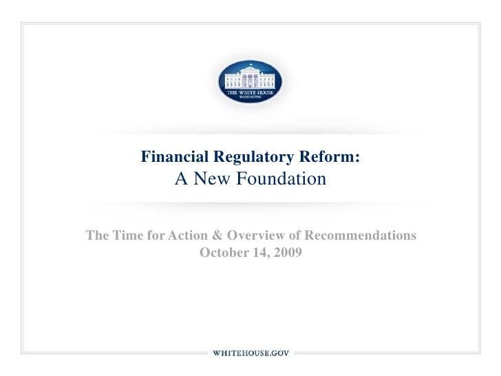 Whitehouse.gov: Financial Regulatory Reform