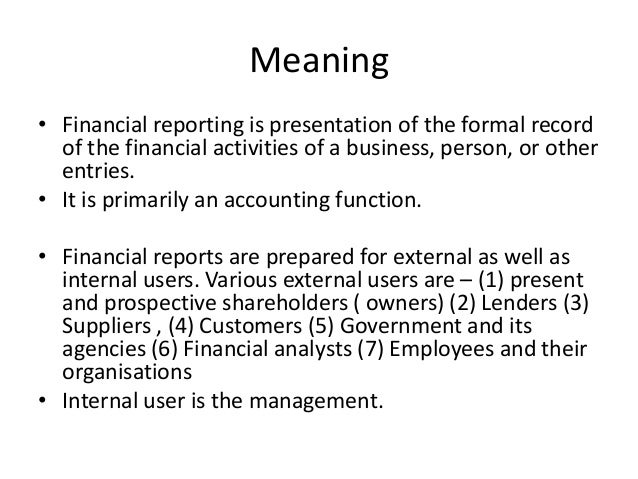 Meaning report