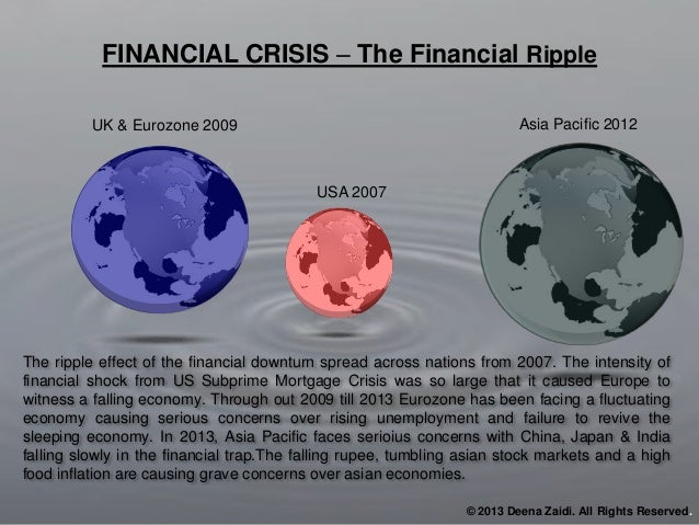 10% 80% The ripple effect of the financial downturn spread across nations from 2007. The intensity of financial shock from...