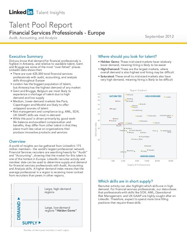 Talent InsightsTalent Pool ReportFinancial Services Professionals - Europe                                                ...