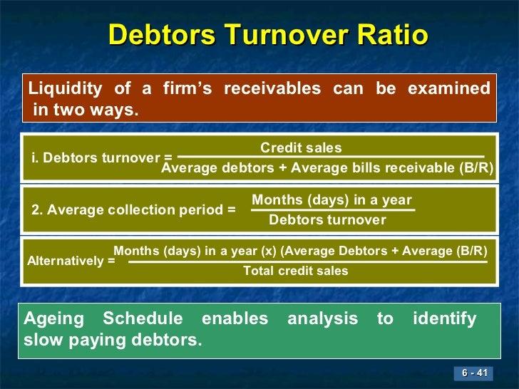 receivables turnover ratio