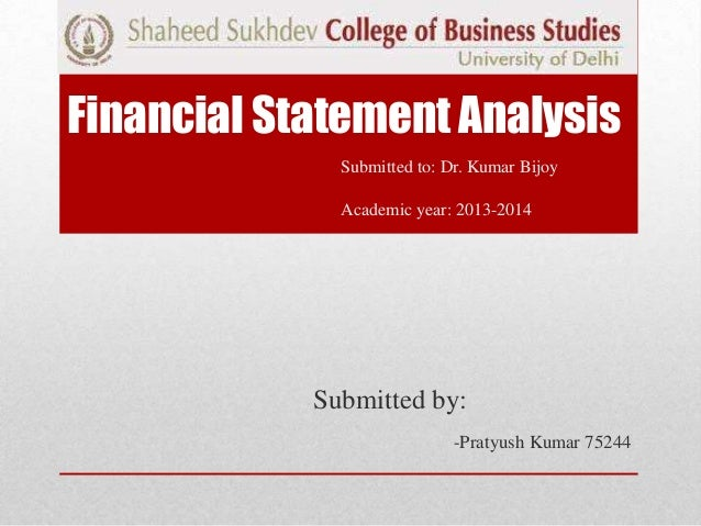 Financial statement analysis(cement and finance sector).