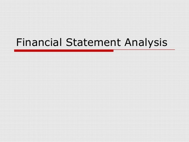 Financial statement analysis[1]