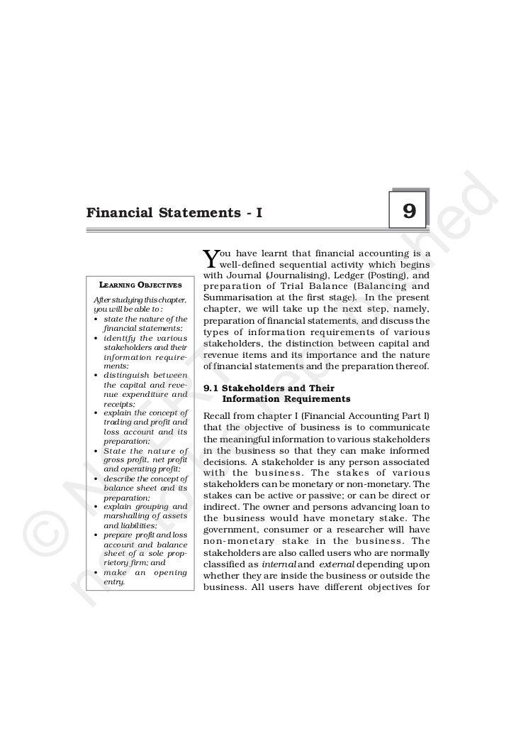 d   Financial Statements - I                                                    9                                         ...