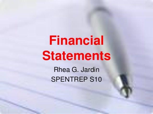 Financial statements  sr