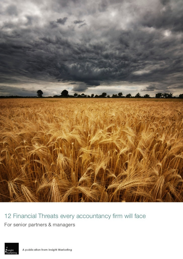 12 Financial Threats every accountancy firm will faceFor senior partners & managers       A publication from Insight Marke...