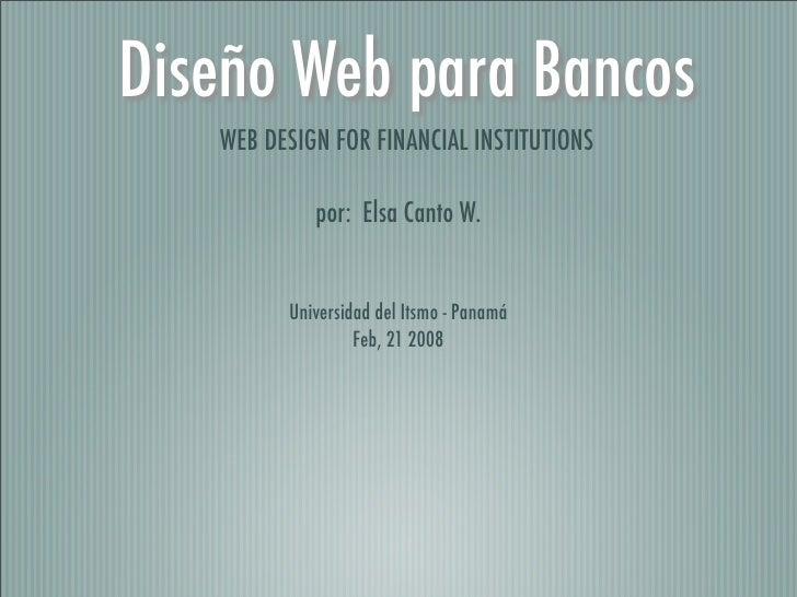 Financial Web Design Case Study