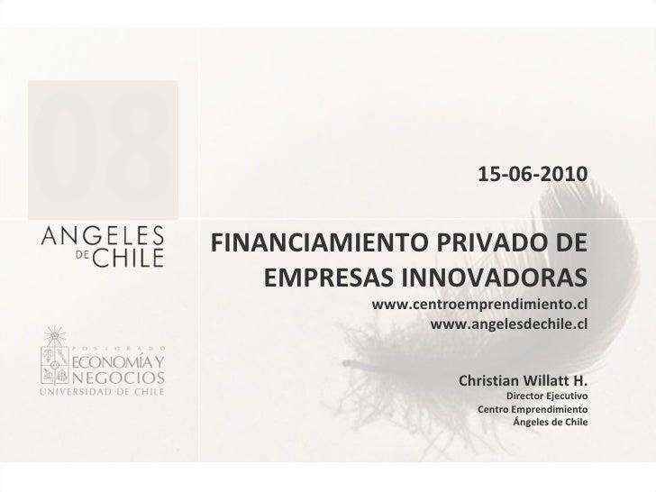 Financiamiento Privado De Empresas Innovadoras