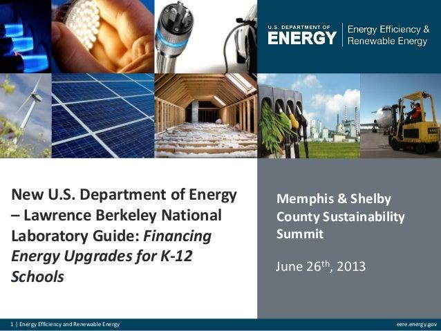 Financing energy upgrades for k 12 schools - u.s. dept. of energy