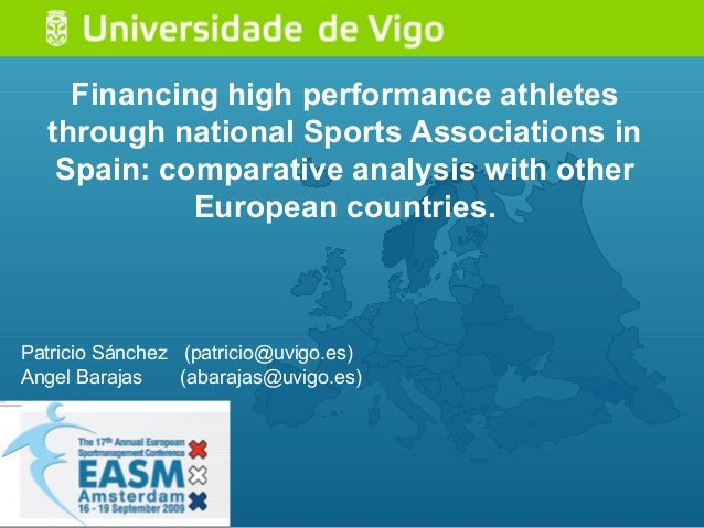 Financing high performance athletes through national Sports Associations in Spain: comparative analysis with other Europea...