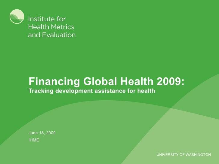 Financing of Global Health - IHME 0609