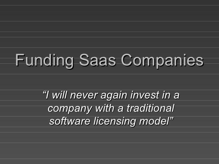 Financing Saas Companies