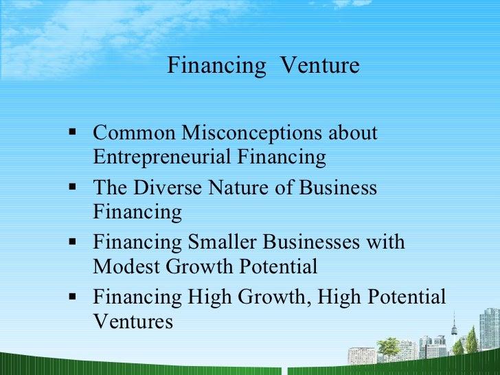 Financing  venture