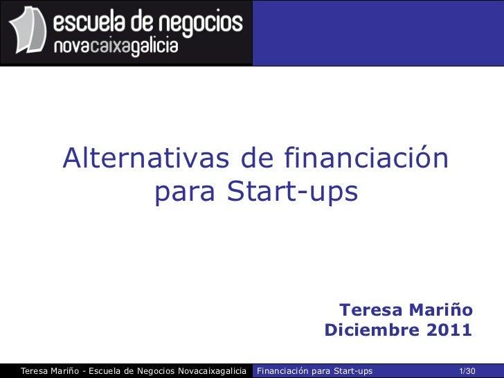 Alternativas de financiación               para Start-ups                                                                 ...