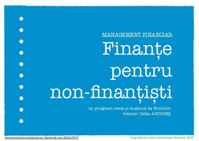 Finante pentru non finantisti (Evolutiv)