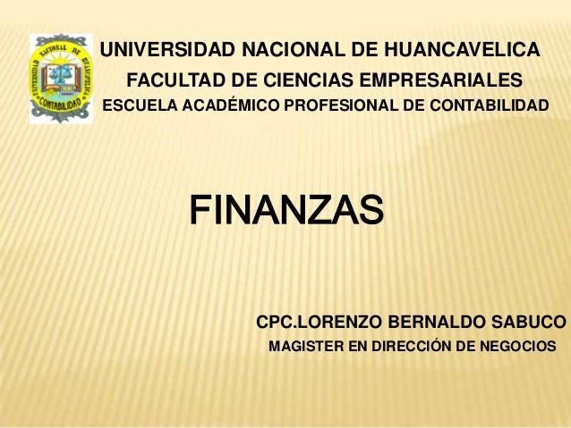 UNIVERSIDAD NACIONAL DE HUANCAVELICA  FACULTAD DE CIENCIAS EMPRESARIALESESCUELA ACADÉMICO PROFESIONAL DE CONTABILIDAD     ...