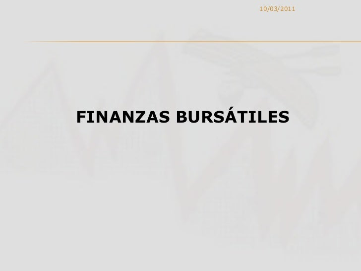 FINANZAS BURSATILES