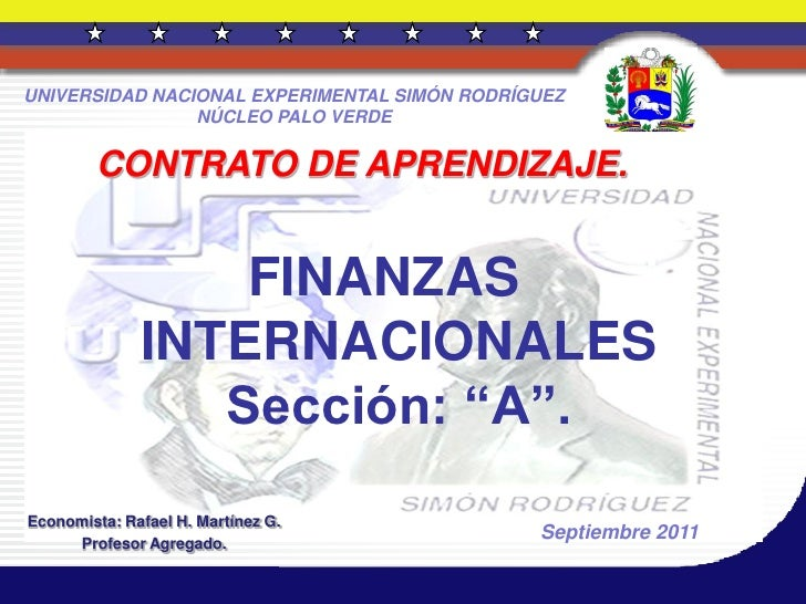 Finanzas internacionales. sección a  25 septiembre 2011