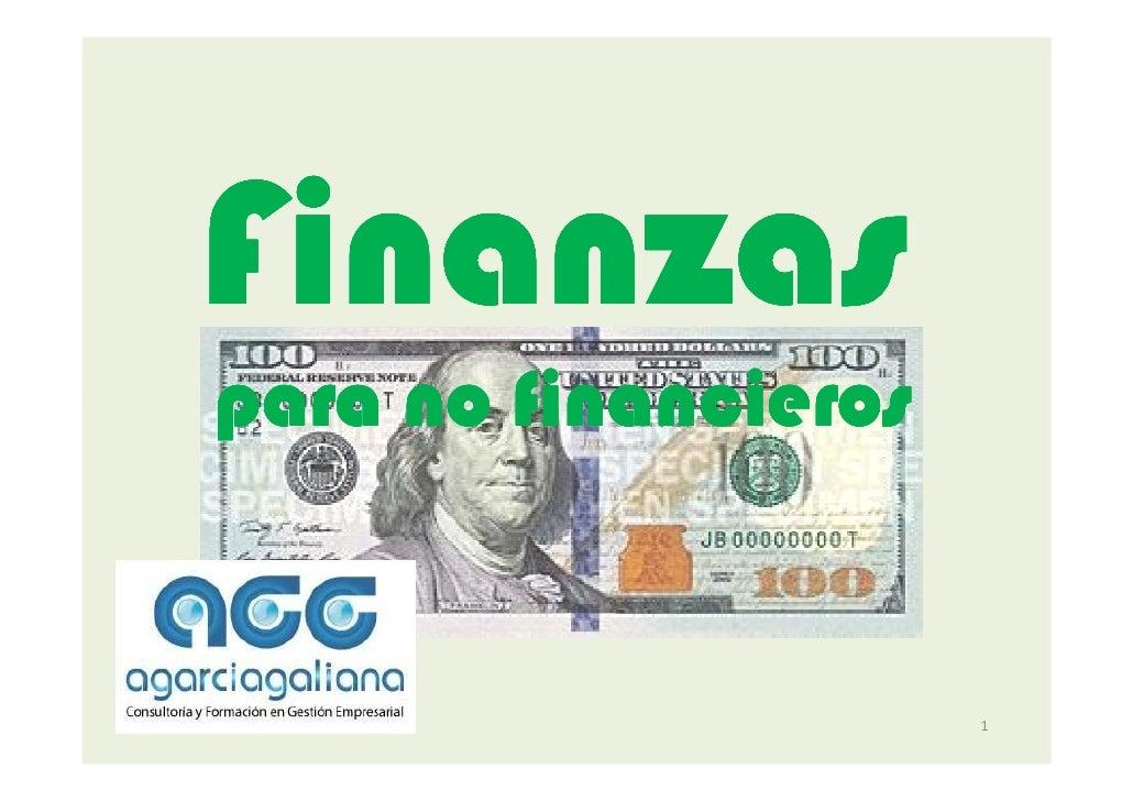 Finanzas para no financieros.