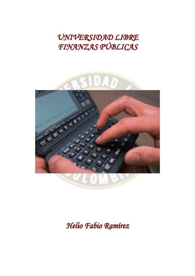Finanzas públicas. colombia