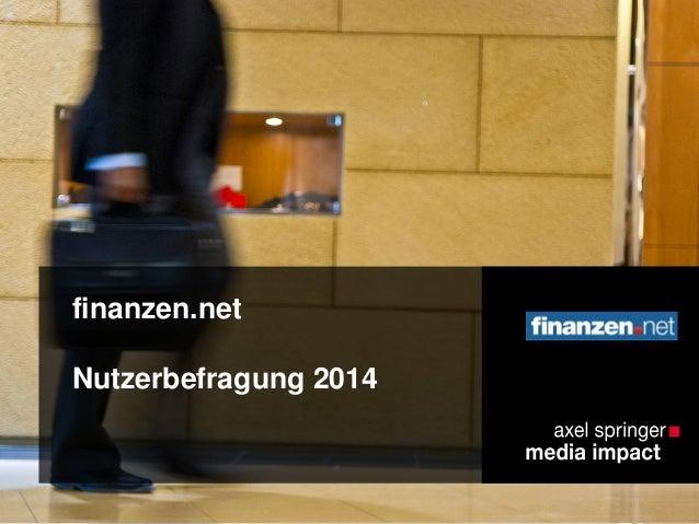 finanzen.net Nutzerbefragung 2014