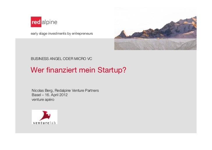 Finanzierung startup venture apéro basel_april 2012