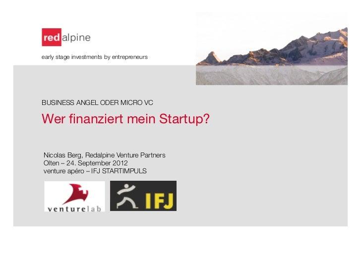 Finanzierung startup venture apéro olten_sep 2012