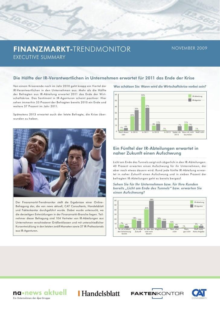 FINANZMARKT-TRENDMONITOR                                                                                                  ...