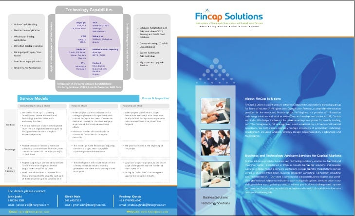 FinCap  Solutions Brochure