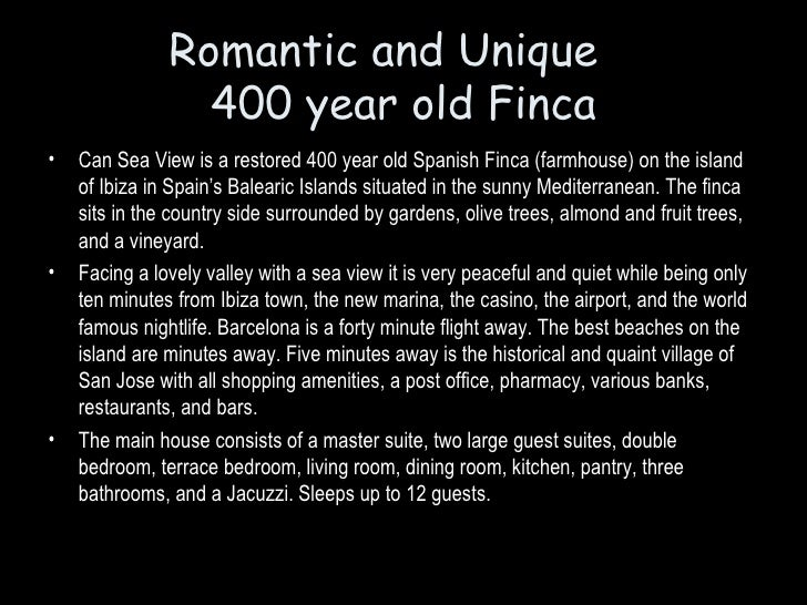 Romantic and Unique                  400 year old Finca •   Can Sea View is a restored 400 year old Spanish Finca (farmhou...