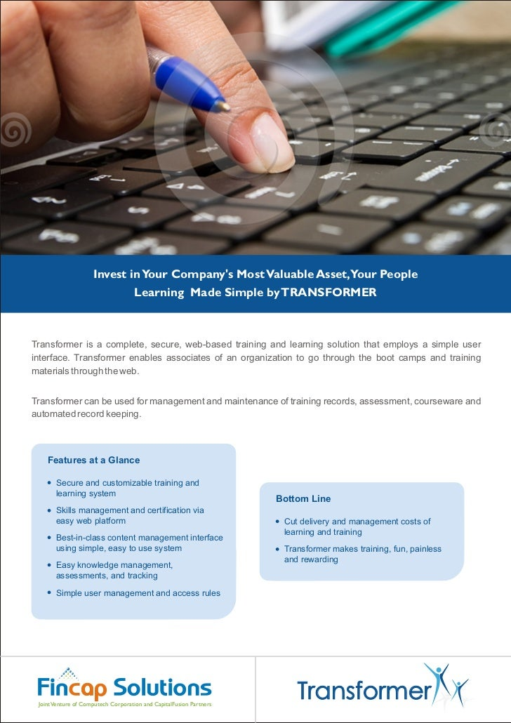 Invest in Your Companys Most Valuable Asset,Your People                                    Learning Made Simple by TRANSFO...