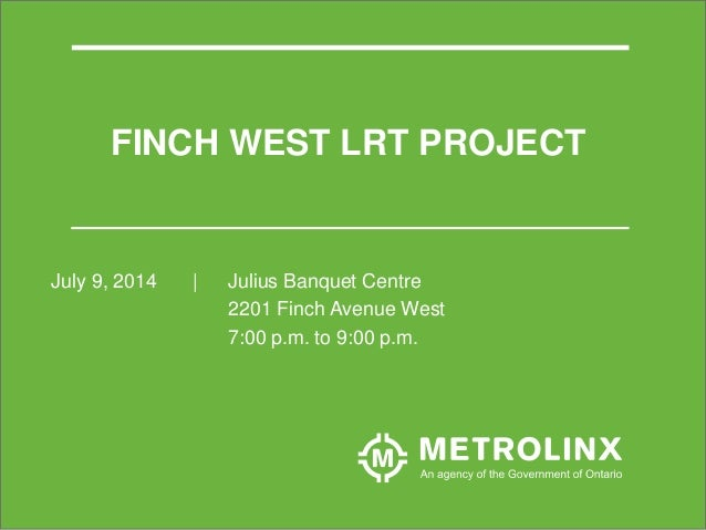 Finch MSF EA Consultation July 7, 2014