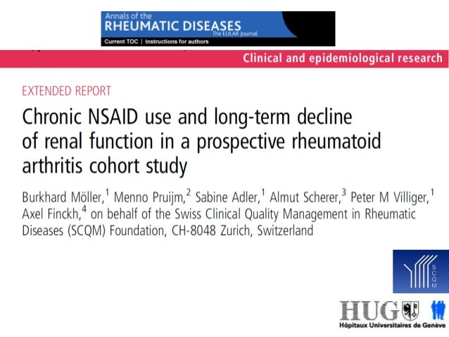SCQM – The Swiss reference platform for research and quality management in rheumatology NSAID use and long-term decline of...